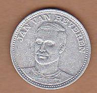 AC -  JAN VAN BEVEREN  VOETBAL TOP 20  SHELL 1970  TOKEN - JETON - Monetary /of Necessity