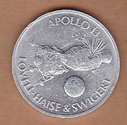 AC -  APOLLO 13 LOVELL HAISE & SWIGERT 18 SHELL 1970 TOKEN - JETON - Monetary /of Necessity
