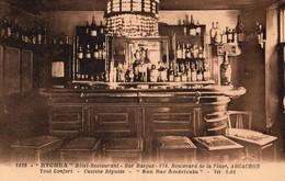 """1025  -""""ETCHEA"""" HOTEL RESTAURANT -BAR BASQUE- BD DE LA PLAGE ARCACHON """"son Bar Americain"""" - Publicité"""