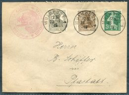 1919 France Germany Mulhouse 'Ministere De La Guerre, Controle Postal, Mixed Franking Cover - Pfastatt - Covers & Documents