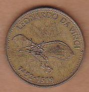 AC -  LEONARDO DA VINCI 1452 - 1519 SHELL TOKEN - JETON - Noodgeld