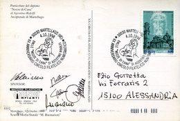 19939 Italia, Card With Special Postmark Martellago 1998, Wedding At Cana,hochzeit Zu Kana,noces De Cana - Christentum