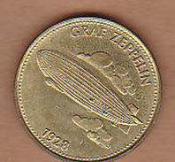 AC -  GRAF ZEPPELIN 1928 SHELL TOKEN - JETON - Noodgeld