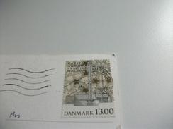 STORIA POSTALE FRANCOBOLLO COMMEMORATIVO DANIMARCA THE BOURSE AND CHRISTIANBORG PARLIAMENT - Danimarca