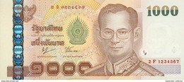 Thailand, 1000 Baht, Pick 115, Sign. 76, Lucky Number 1234567 ! - Thailand