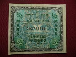 ALLEMAGNE Billet De 1/2 Mark 1944 - [ 5] Ocupación De Los Aliados
