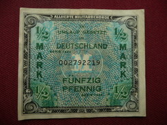 ALLEMAGNE Billet De 1/2 Mark 1944 - [ 5] 1945-1949 : Occupation Des Alliés