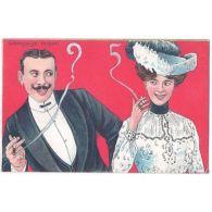 CPA COUPLE - Langage Muet - Cigarette COU 003 - Cartes Postales
