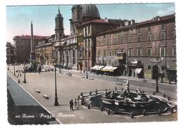 50 - ROMA - PIAZZA NAVONA  - VIAGGIATA 1955 - (257) - Places & Squares
