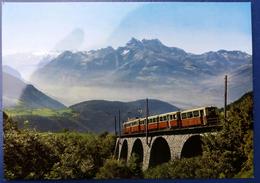 Carte Postale Leysin Suisse Chemin De Fer à Crémaillère - VD Vaud