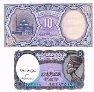 EGYPT TWO BANKNOTES 5 & 10 PIATRES - Egypte