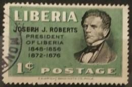 LIBERIA 1948 Liberian Presidents - Joseph J. Roberts, 1809-1876. USADO - USED. - Liberia