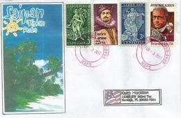 Belle Lettre De Saipan. îles Mariannes Du Nord, Adressée Etats-Unis - Islas Maríanas