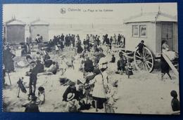 CPA Ostende La Plage Et Les Cabines 1925 - Oostende