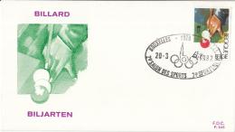 België - FDC 645-648 - Sporten - Biljarten/Wielrennen/Voetbal/Zeilen - OBP 2039-2040 - FDC