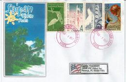 Belle Lettre De Saipan. îles Mariannes Du Nord, Adressée Etats-Unis