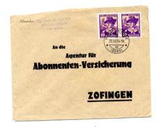Lettre Cachet Berne Sur Juventute 1934 - Marcophilie