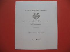 Carnet De 8 Timbres Non Dentelé République Rwandaise 1962 Indépendance Neuf TBE - 1962-69: Neufs
