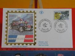 France > FDC > 1990-99 > Libération, Hommage Aux Maquis - 74 Thônes - 9.4.1994 - 1er Jour FDC-Coté 2,70 € - 1990-1999