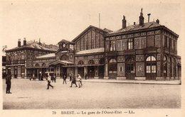 CPA BREST - LA GARE DE L'OUEST-ETAT - Brest