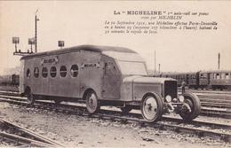 "CPA La ""MICHELINE"" 1er Auto-rail Sur Pneus MICHELIN Chemin De Fer Transport Transportation - Cartoline"