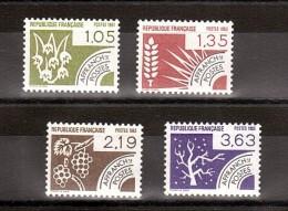 France - 1983 - Préoblitérés N° 178 à 181 - Neufs ** - Les Quatre Saisons - Precancels