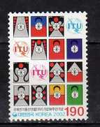 South Korea 2002 The 50th Anniversary Of Membership Of International Telecommunications Union.ITU.Mi - 2230.MNH - Korea, South