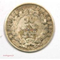 50 Centimes Napoléon III 1852 A Paris [17CAMP200910 FR] - Non Classificati