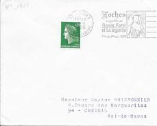 INDRE ET LOIRE (37) LOCHES  - FLAMME N° 1817 LOCHES/ LOGIS ROYAL/ AGNES SOREL/ET SA LEGENDE/ 1ER MAI 1ER OCT 1970  F.D. - Postmark Collection (Covers)