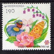 South Korea - 2002 International Flower Exhibition, Anmyeondo.butterflie.Mi - 2240.MNH - Korea, South