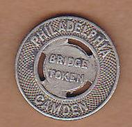 AC -  PHILADELPHIA CAMDEN BRIDGE TOKEN DELAWARE RIVER BRIDGE LINE PTC  TOKEN - JETON - Noodgeld