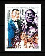 Ghana 2001 Sc # Bf 2219  MNH **  Jazz Greats - Muziek
