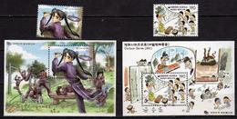 South Korea - 2002 Cartoons.tennis,Mi - 2241/42 And Bl: 706/707.MNH - Korea, South