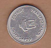 AC -  DETROIT TRANSPORTATION CORPORATION CITY OF DETROIT DPM TOKEN - JETON - Monetary/Of Necessity