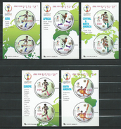 South Korea 2002 FIFA.Football World Cup - Japan And South Korea.Mi - Bl: 708/709/710/711/712.Sport.MNH - Korea, South