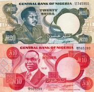 NIGERIA LOT 10, 20 NAIRA - Nigeria