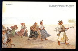 S. Solomko - Die Jagd Nach Dem Gluck / Postcard Circulated, 2 Scans - Solomko, S.