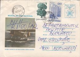 57894- ROMANIAN AVIATION IN WW2, PLANE, HISTORY, REGISTERED COVER STATIONERY, TREE, HOTEL STAMPS, 1995, ROMANIA - 2. Weltkrieg
