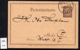 Neue Berlin-Omnibus & Packetfahrt 2Pf  Brown P.S. Card Ganzsache, Used 1887.