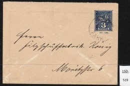 Berlin Packetfahrt 3Pf  Blue Ganzsache (Umschlag) No. 362 (1298), 125x89 Mms, Used. - Private