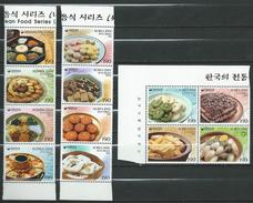 South Korea.2002/2003/2004 Korean Foods.Mi - 2249/52,2354/57,2405/08.MNH - Korea, South