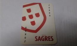 (027) - 1 Cart Joker, Bier SAGRES - (voir Scaner) - Kartenspiele (traditionell)