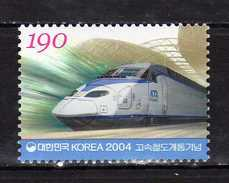 South Korea - 2004.Inauguration Of High Speed Trains.Train. Transportation/Railways. MNH - Korea, South