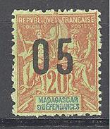 Madagascar: Yvert N° 112A*; Chiffres Espacées - Madagascar (1889-1960)