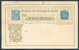 1902/3 Iceland 5 Aur Overprint Brjefspjald Stationery Postcard - Postal Stationery