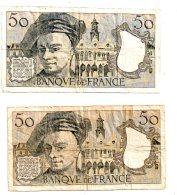 2 Billets De 50 Francs - 1991-1992 -voir état