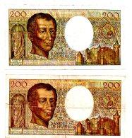 2 Billets De 200 Francs -Montesquieu -voir état