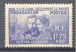 Madagascar: Yvert N° 206**; MNH; Pierre Et Maris Curie - Madagascar (1889-1960)