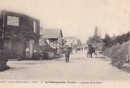 LA CHATAIGNERAIE. -  Avenue De La Gare. Carte Rare. Attelage - La Chataigneraie