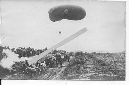 1918 Drachen Ballon Saucisse Allemand En Surveillance Des Colonnes Friedensturm 1 Carte Photo14-18 1914-1918 Ww1 1wk - War, Military